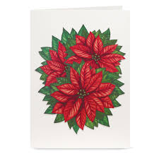 Poinsettia Card Cheerful Poinsettia Pop Up Christmas Greeting Cards