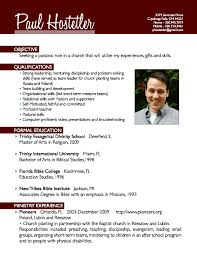 Ministry Resume Templates Template Idea
