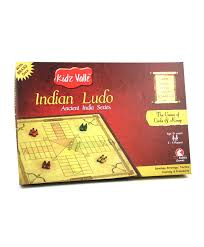 Wooden Ludo Board Game Kidz Valle Wooden Indian Ludo Board Game Multicolor 86
