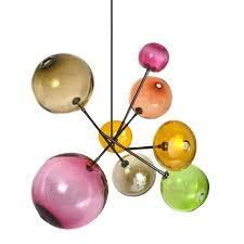 sklo pivot pink blown glass chandelier 14792