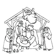 Free Christian Christmas Coloring Pages Coloring