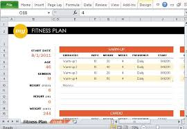 A Fitness Plan Free Fitness Plan Maker For Excel