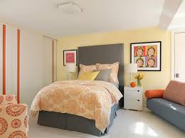 High Quality ... Exquisite Use Of Gray, Yellow And Orange In The Bedroom [Design:  Directions In