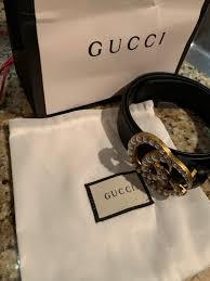 Womens Pearl Gucci Belt Size 35 37 115cm Gucci Belts In