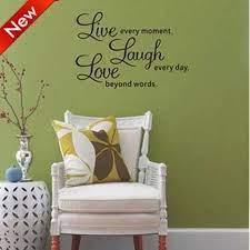 stick on wall art sayings home decor