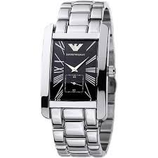 ar0156 armani silver and black stainless steel watch for at armani watches ar0156 armani silver black stainless steel men s watch