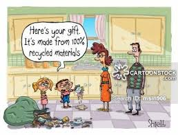 here s your gift it s made from 100 recycled materials