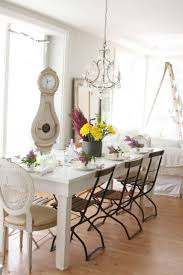 white dining table shabby chic country. Awesome Chandelier For Dining Table Shabby Chic Country Cottage Bedroom Style With Green Duvet White H