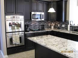 Granite Countertops And Cabinet Combinations Fine Kitchen Floor