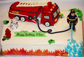 Firefighter Cupcake Decorations Firetruck Cake Birthday Cakes Fire Truck Cakes And Trucks
