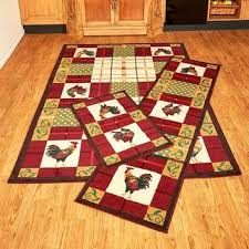 country rooster rugs accent runner area functional decorative fa