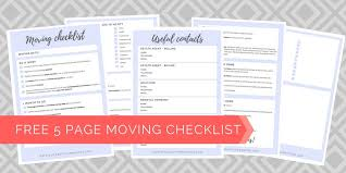 Free Printable Moving Checklist Ultimate Moving Checklist Free Printable Girl About Townhouse