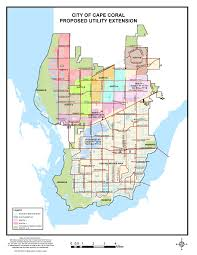 city of cape coral fl proposed utility expansion map for water and