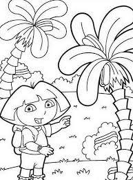 Dora En Landschap Kleurplaat Kleurplaatjecom