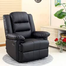 image of loxley black leather recliner armchair sofa home lounge chair for reclining gaming chair