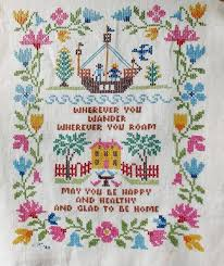 collecting vintage cross stitch