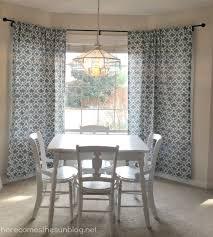 bay window curtain rod. Easy DIY Bay Window Curtain Rod From Herecomesthesunblog.net W