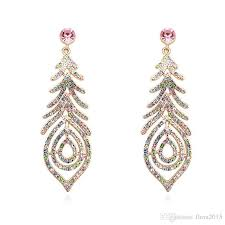 2018 top quality bohemian style earring for women wedding party jewelry gift multioclor austrian crystal bridal chandelier earrings from flora2016