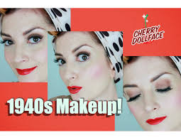 1940s clic hollywood vine makeup tutorial by cherry dollface you