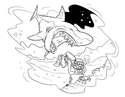 great white shar new great white shark coloring pages
