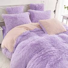 chic purple fur gy furry blanket