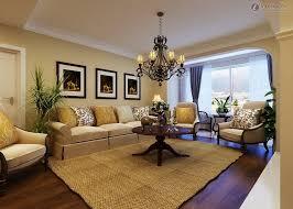 Romantic Linving Room Ideas With Cozy Sofa Under Chic Hanging Lamp Plus  Wickerwork Carpet