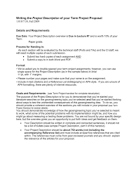 Project Proposal Apa Format Project Description 1 018 7 30 Fall 2009 Details And Requirements