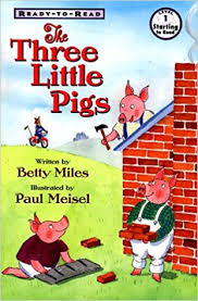 amazon the three little pigs 9780689817885 betty miles paul meisel books