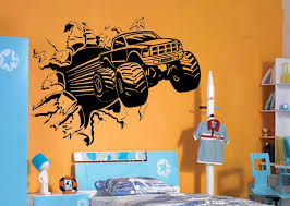 Small Picture Aliexpresscom Buy Blasting Monster Truck BEDROOM CREATIVE WALL