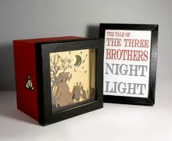 harry potter tale of the three brothers shadow box night light