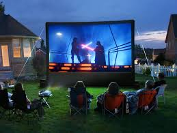 Backyard Movie Night Party For Our Girl Who Is 8  Simply Natural MomMovie Backyard