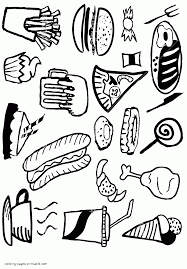 Small Picture Healthy or unhealthy food coloring pages for preschool