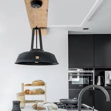 black kitchen lighting. Cool Kitchen Lamps In Metal Raw Industrial Style Classic Black Lighting