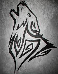 how to draw a howling tribal wolf