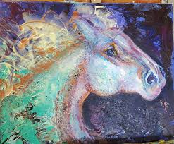abstract horse painting abstract horse art abstract painting unicorn colorful horse equine art large abstract horse horse wall art