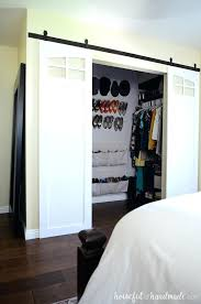 door for closet closet sliding barn doors are the perfect way to update your bedroom replace