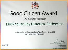 Good Citizen Award For The Society
