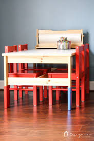an ikea kid s table and chairs can look super stylish with just a little bit of