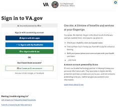 How do I sign into VA.gov using DS Logon or MyHealtheVet? – ID.me Support