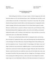 louis riel essay short paper assignment when the louis riel  4 pages assignment louis riel