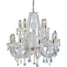 699 12 marie therese 12 light crystal chandelier polished brass
