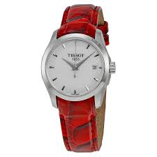 tissot couturier white dial red leather las watch t0352101601101 item no t035 210 16 011 01