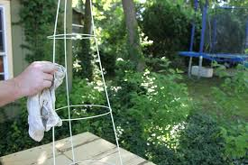 homemade tomato cages bamboo tomato cage project garden art old wire cages more homes diy bamboo