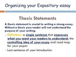 expository writing writing a purpose to explain a topic or  8 organizing your expository essay