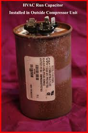 hvac how to replace the run capacitor in the compressor unit now look closely at the terminals end of the capacitor