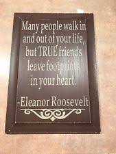 wall art painted wood true friends quote by eleanor roosevelt  on wooden quote wall art with wooden quotes sayings home d cor wall plaques ebay