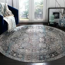 vintage ivory grey polyester rug x round table claremont lunch buffet