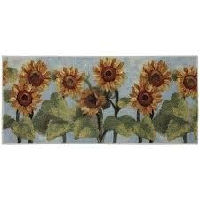 kohls kitchen rugs home summer sunflower kitchen rug from within sunflower kitchen rugs kohls kitchen