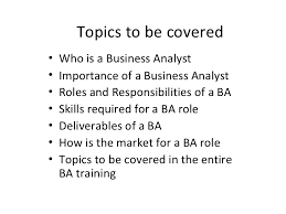 introductory session on business analyst training 2 ba roles and responsibilities