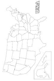Map Of United States Coloring Page United States Coloring Pages Us